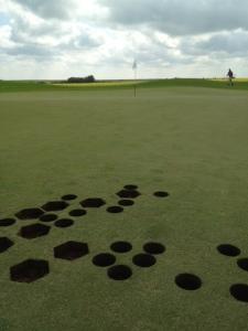Strange holes on Hole # 13