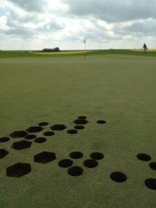 Strange holes on Hole # 13