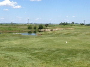 Drivable par 4 at Muirfield Lakes